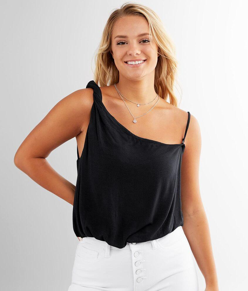 Free People Marina Cropped Tank Top front view