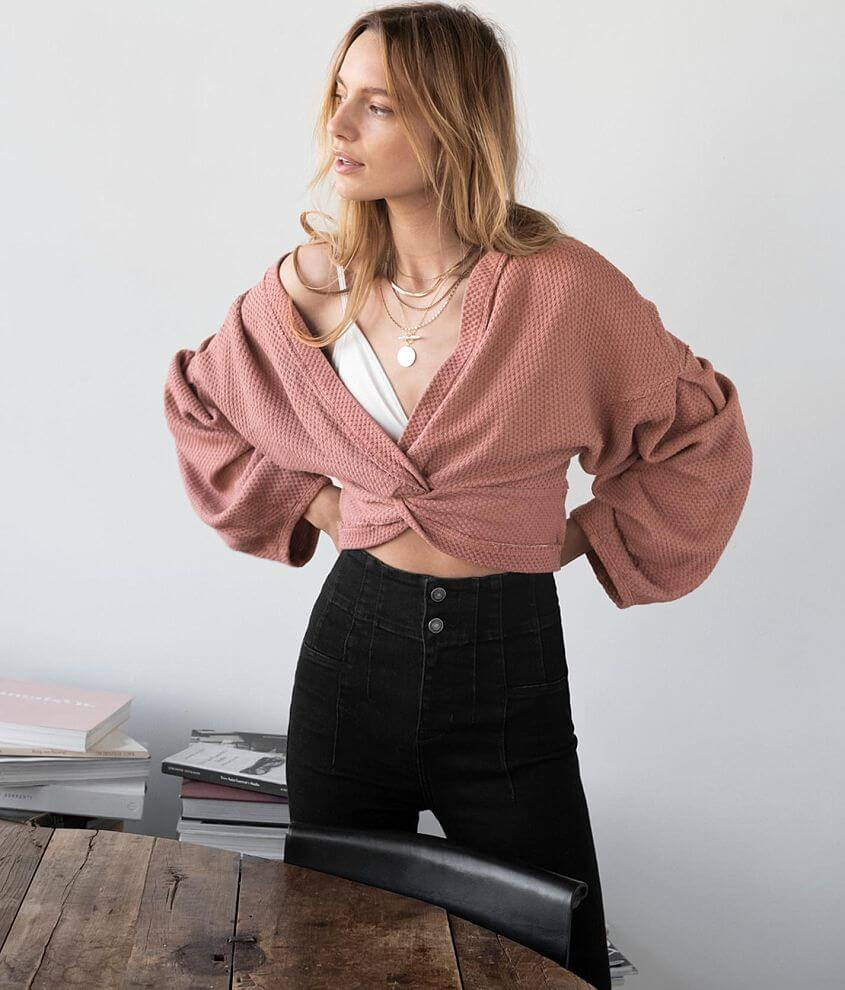 Free People Fall For You Cropped Top front view