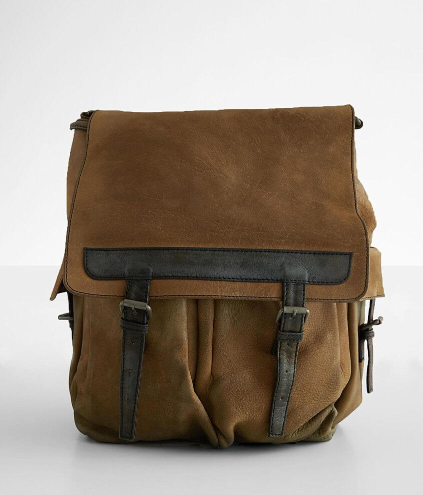 Free People Trailblazer Leather Backpack front view