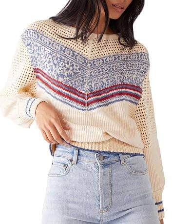 Free People Geo Party Sweater
