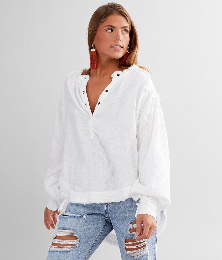 Free People Beach Day Henley Pullover front view