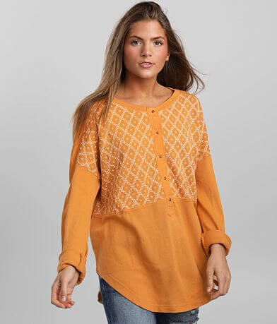 Free People Free Spirit Henley Pullover