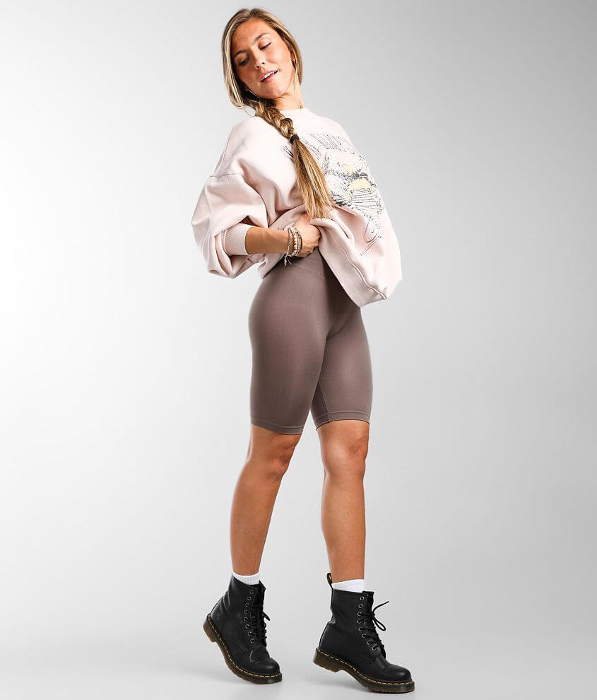Free People Seamless Biker Short front view