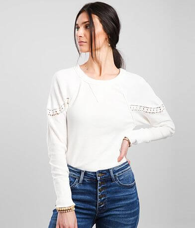 Free People Luella Textured Thermal Top