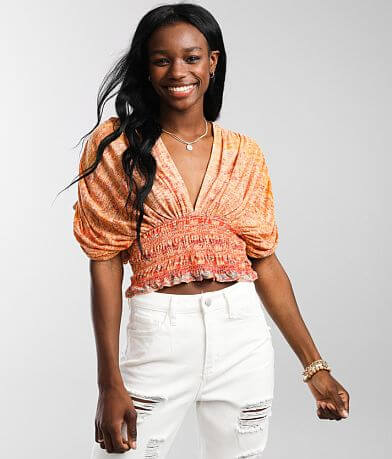 Free People Next Vacation Cropped Top