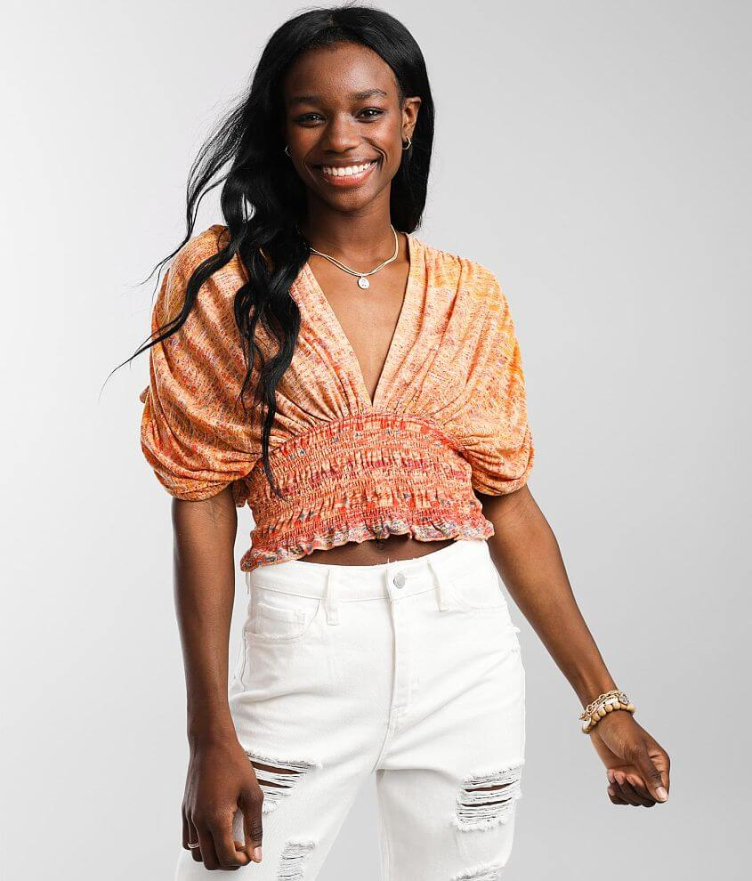 Free People Next Vacation Cropped Top front view