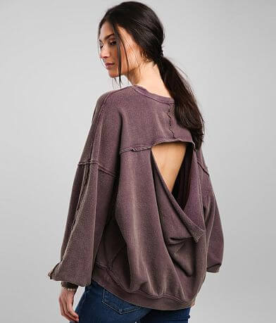 Free People Easy Does It Washed Pullover