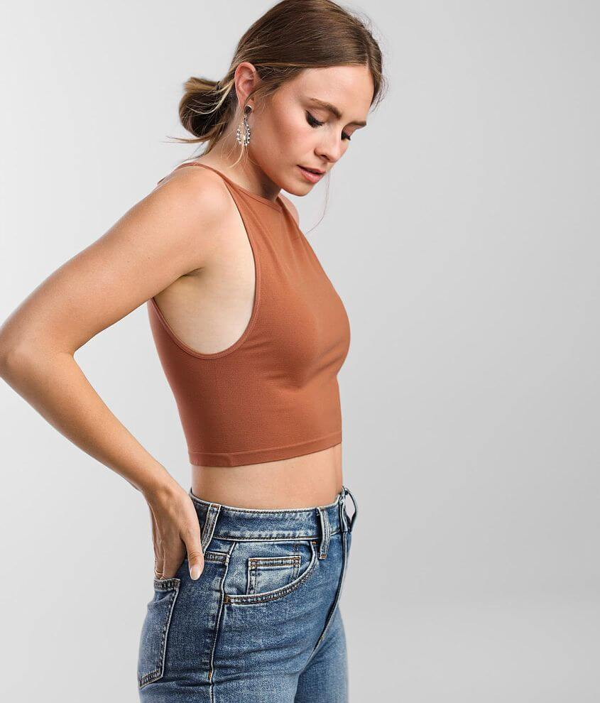 Free People Boatneck Cropped Brami front view