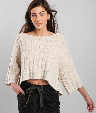 Free People Good Day Cropped Sweater