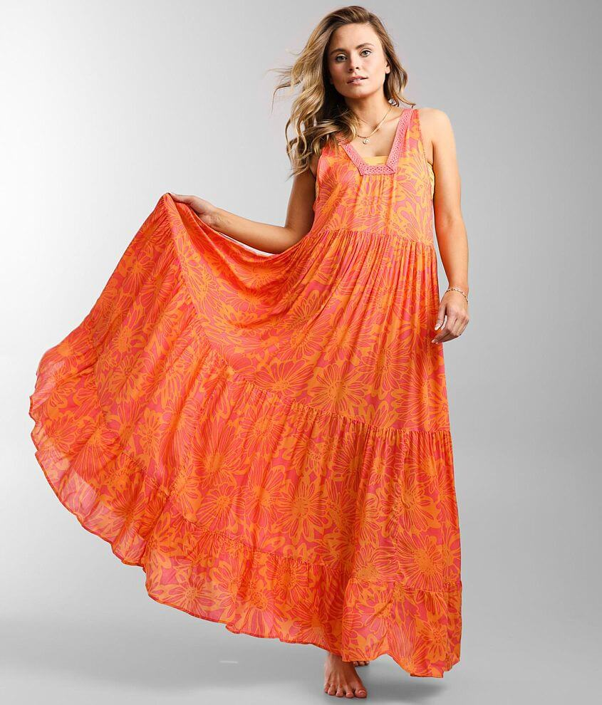 Free People Tiers For You Maxi Dress front view