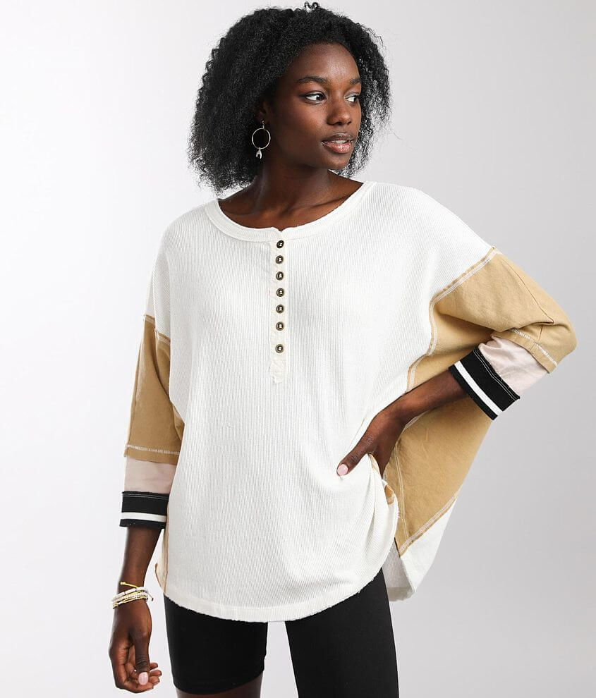 Free People Just Tip It Henley front view