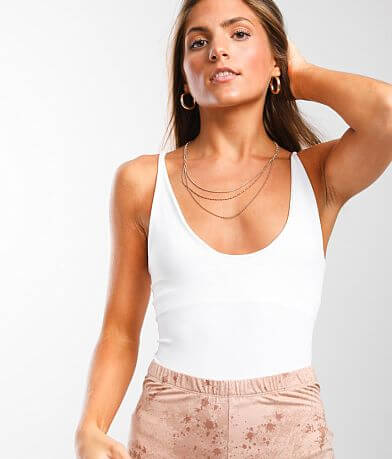 Free People Seamless V-Neck Cami Tank Top