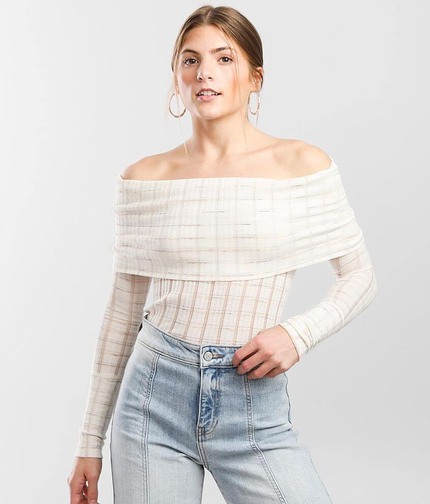 Free People Snowbunny Girlfriend Ribbed Top front view