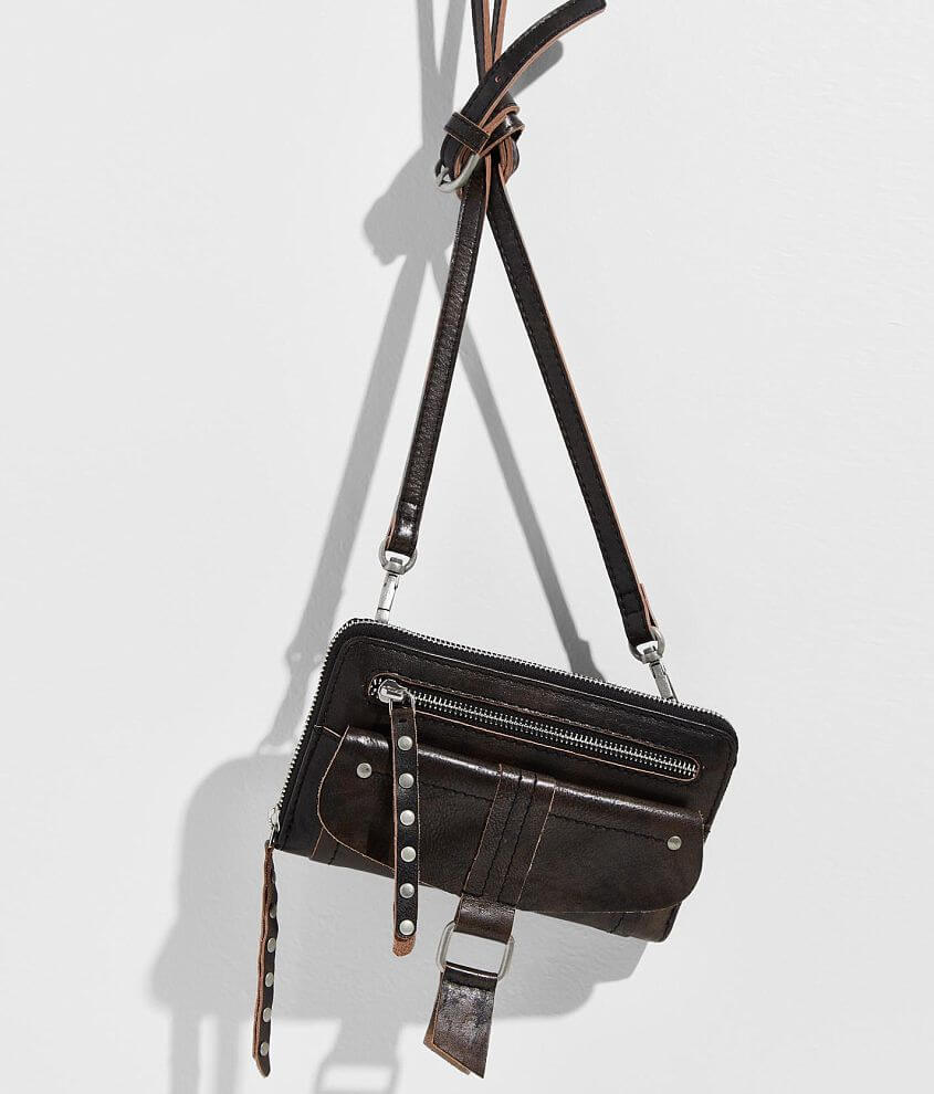 Free People Perri Leather Crossbody Purse front view
