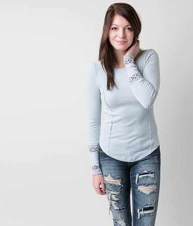 Free People Washed Thermal Top