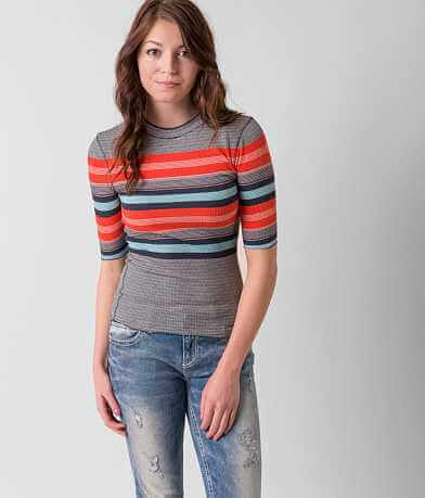 Free People Striped Thermal Top