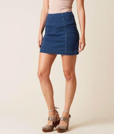 Free People Modern Femme Denim Stretch Skirt