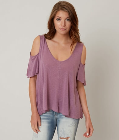 Free People Cold Shoulder Top