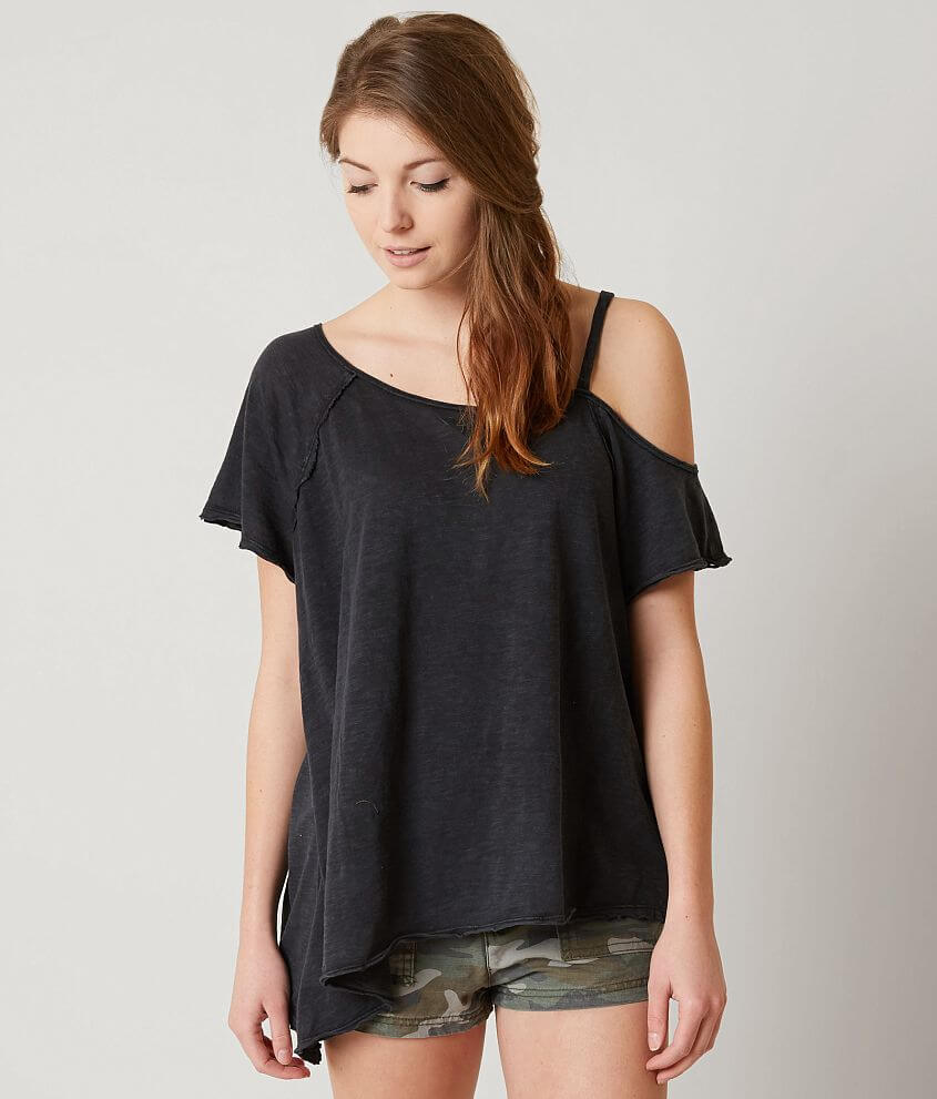 Free People Coraline T Shirt Women S T Shirts In Grey Buckle