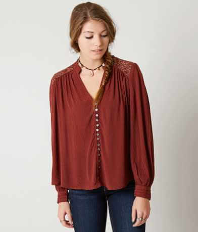 Free People Canyon Rose Shirt