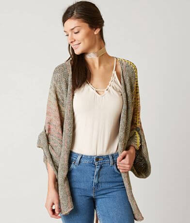 Free People Striped Cardigan Sweater