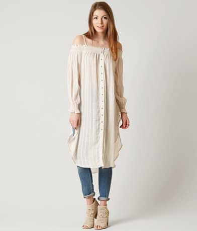 Free People Wild Adventures Maxi Shirt