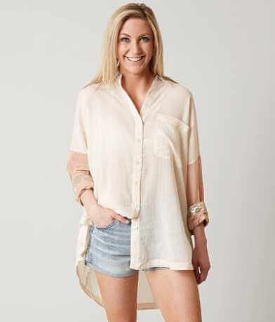 Free People Rainbow Rays Shirt