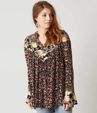 Free People Wildflower Fields Henley Top