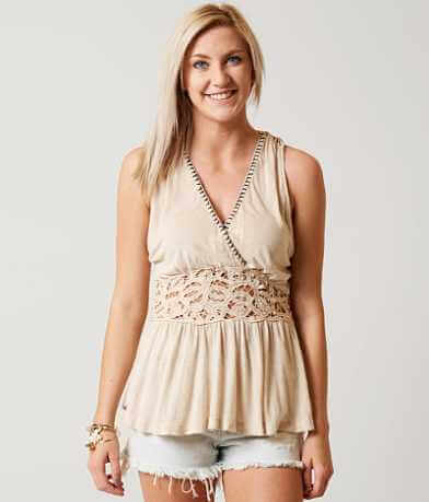Free People Megan Peplum Tank Top