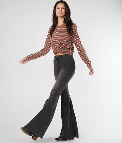 Free People Just Float On Flare Stretch Jean