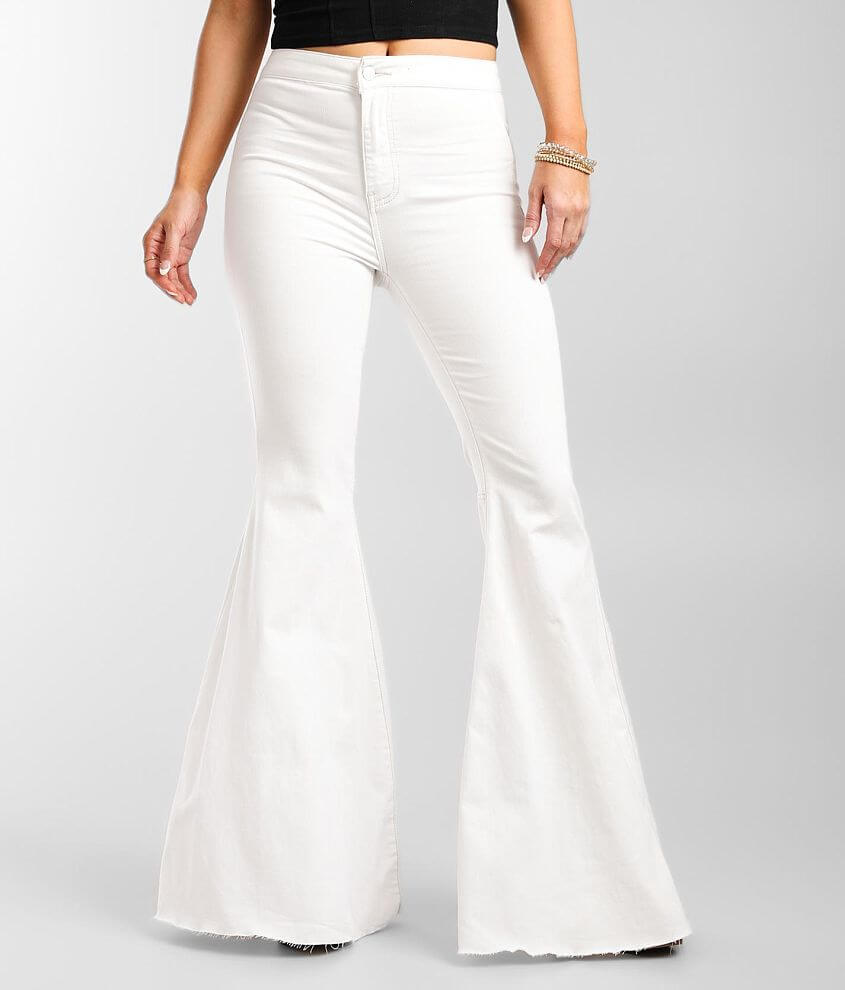 Free People Just Float On Flare Stretch Jean front view