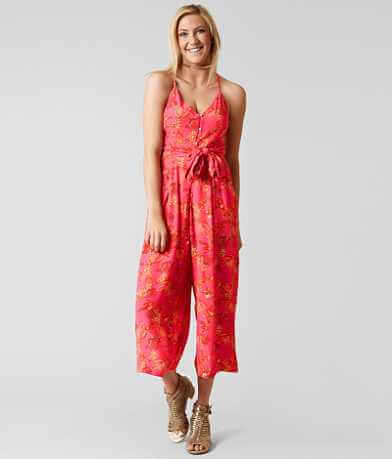 Free People Hot Tropics Wide Leg Romper