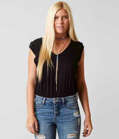 Free People Tee For My Jeans Bodysuit
