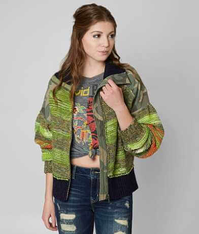 Free People Camo Clash Jacket