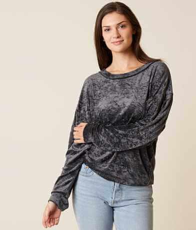 Free People Crushed Velvet Sweatshirt