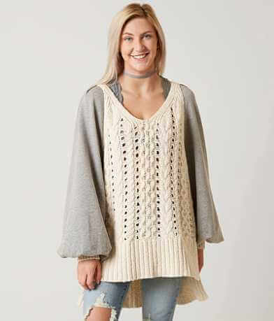 Free People Open Weave Sweater