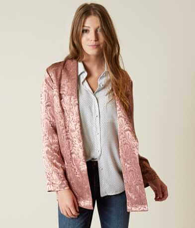 Free People Silky Jaquard Blazer Jacket