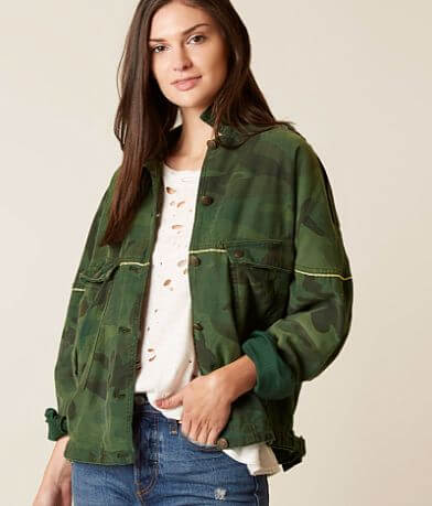 Free People Slouchy Military Jacket