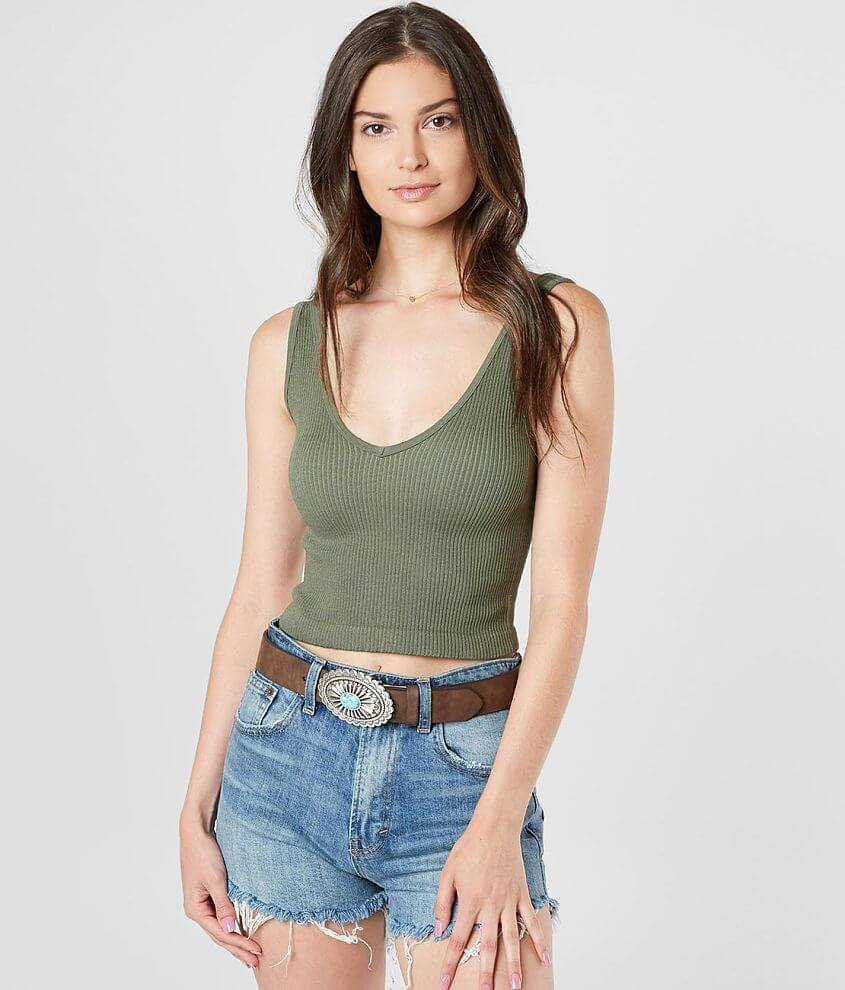 Free People Ribbed Brami Tank Top front view