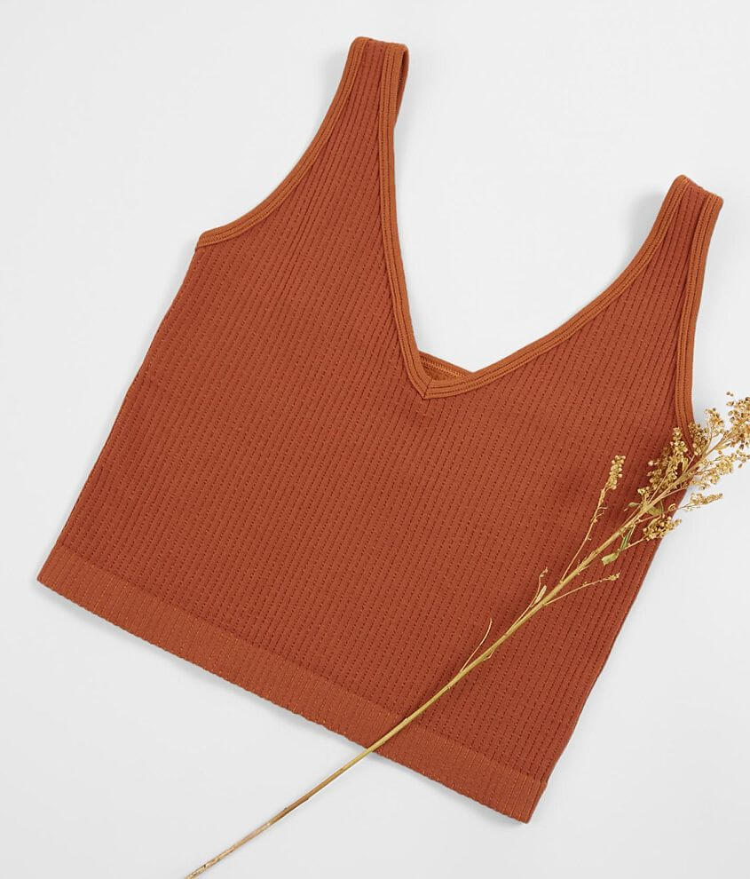 Free People Solid Ribbed Brami front view
