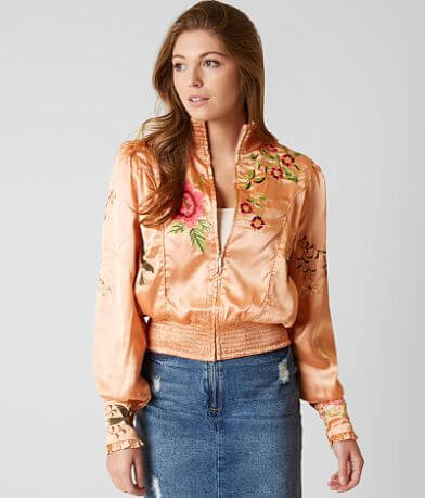 Free People Just Peachy Bomber Jacket