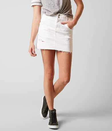 Free People Corsette Denim Mini Skirt
