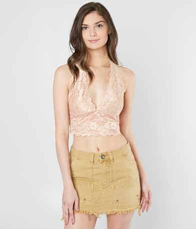 Free People Heartbreaker Lace Halter Bralette