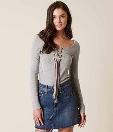 Free People Lace-Up Top