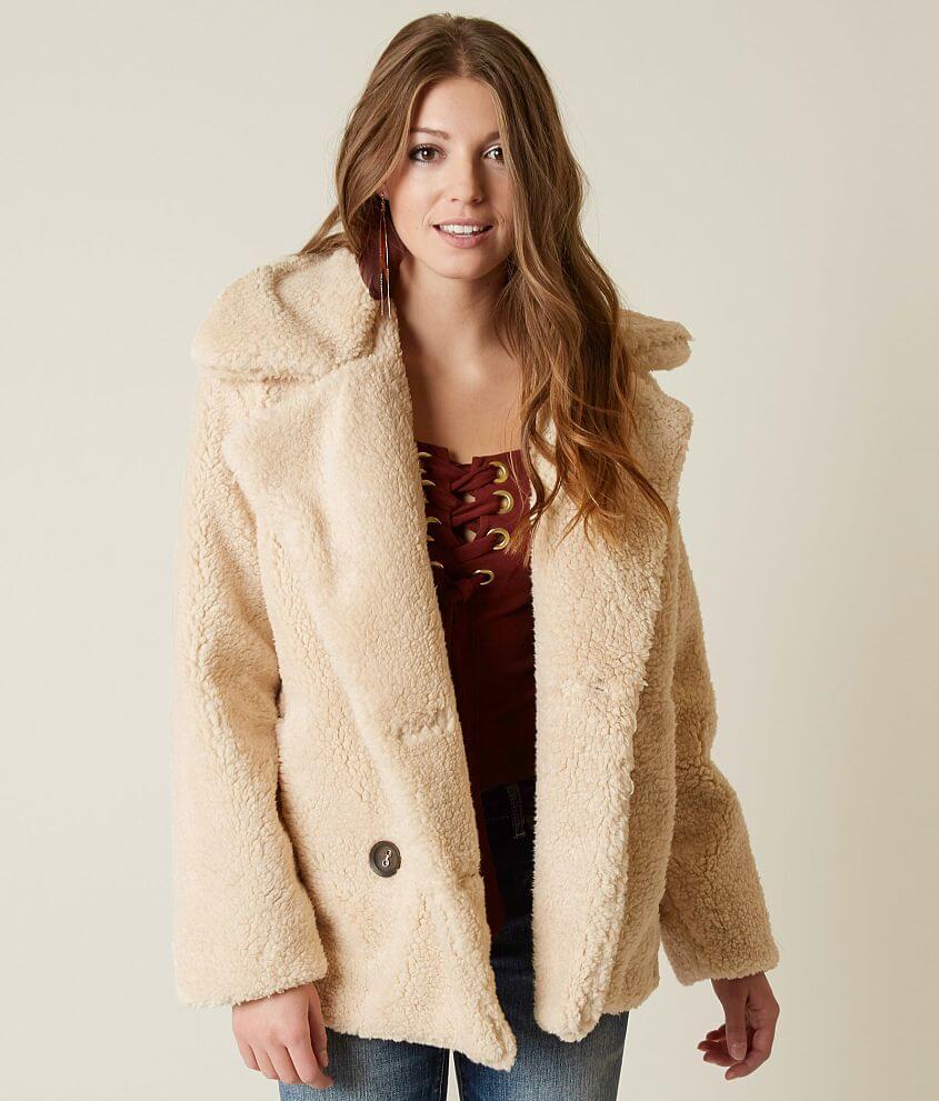 0e38f7292978 Free People Notched Teddy Peacoat - Women s Coats Jackets in Oatmeal ...
