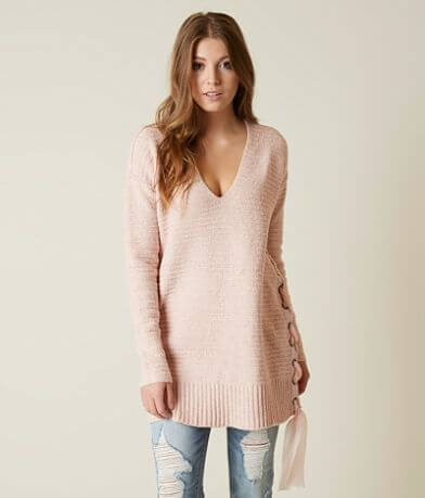 Free People Lace-Up Sweater