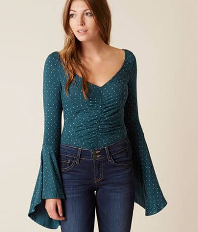 Free People Polka Dot Top
