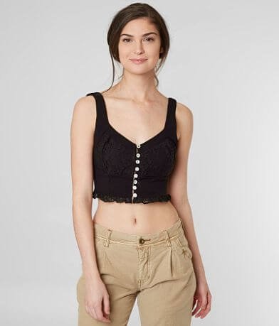 Free People Here I Go Cropped Tank Top