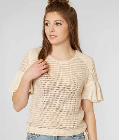 Free People Babes Only Open Weave Top