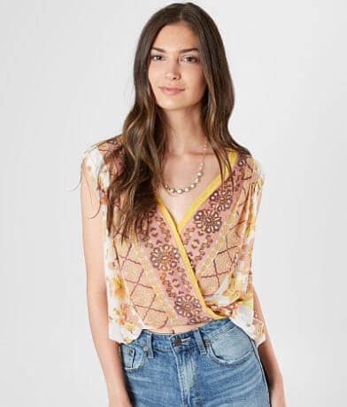 Free People Havana Floral Cropped Tank Top